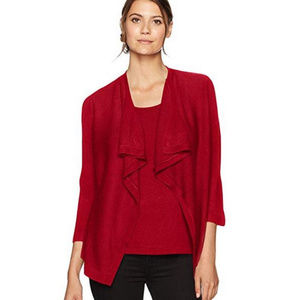 Sag Harbor 3/4 Sleeve Waterfall Front 2fer Large